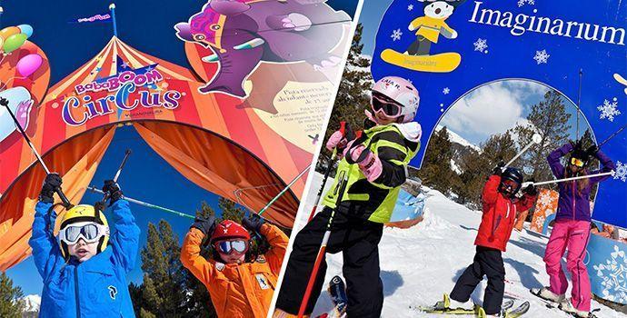Pistas Esquiar con niños pequeños