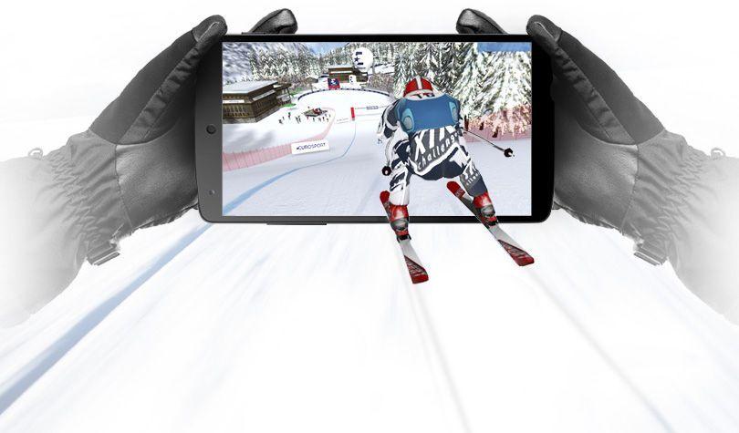 Videojuego esquia nieve peque niños