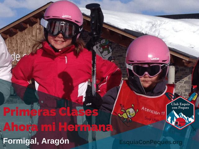 Esquia con Preadolescentes Empezar Primeras Clases de Esquí mi hermana esquiar nieve niño
